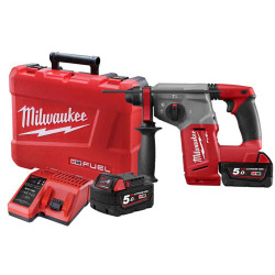 Milwaukee M18 Cordless 28mm SDS PLUS 18v5.0Ah Rotary Hammer Kit #M18CHP-502C