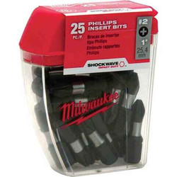 Milwaukee 25pce Phillips Insert Bits #48-32-4604