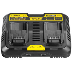 Dewalt 10.8v-18v XR Lithium Ion Battery Charger with USB # DCB102-XE