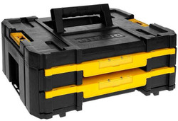Dewalt TSTAK IV Double Drawer Storage Box with Adjustable Dividers # DWST1-70706