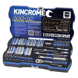Kincrome LOK-ON 45pce 1/4 Square Drive Socket Set #K27003
