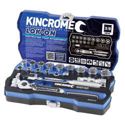 Kincrome LOK-ON 19pce 3/8 Square Drive Socket Set #K27010
