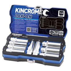 Kincrome LOK-ON 1/2 Square Drive 9 Piece Socket Set #K27058