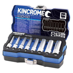 Kincrome LOK-ON 1/4 Square Drive Metric 8pce Socket Set #K27050