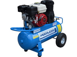 Peerless P17P Petrol Air Compressor 55ltr with Idler Control # 00128