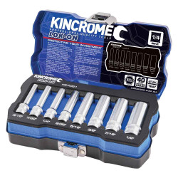 Kincrome LOK-ON 1/4 Square Drive Imperial 8pce Socket Set #K27051