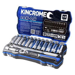 Kincrome LOK-ON 28pce 1/2 Square Drive Metric Socket Set #K27021