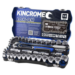 Kincrome LOK-ON 41pce 1/2 Square Drive Metric and Imperial Socket Set #K27022