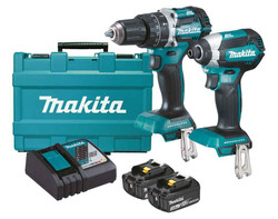 Makita 18V3.0Ah Lithium-Ion Brushless 2pce Cordless Combo Kit - DLX2180X