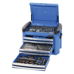 Kincrome Contour 207pce Tool Kit in 8 Drawer Blue Chest #K1509
