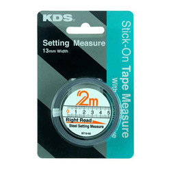 KDS 2m Stick-On Tape Measure With Self-Adhesive #ST13-02BP
