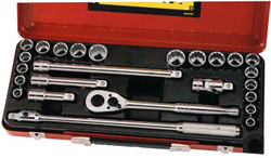 Stanley 25pce Combo Socket Set 1/2 Metric and A/F #89.510
