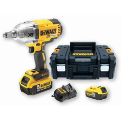 DeWalt 18V5.0Ah XR Li-Ion Brushless High Torque Impact Wrench Set BONUS # DCF899HP2-XE