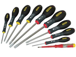 Stanely 10pce Screwdriver Set in Clear Case # 0-65-439