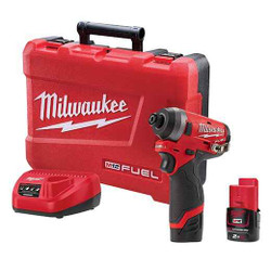 Milwaukee 12v Cordless FUEL 1/4 Hex M12 Impact Driver Kit - M12FID-202C