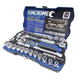Kincrome LOK-ON 29pce 1/2 Square Drive Metric and Imperial Socket Set - K27024