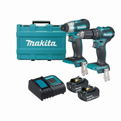 Makita 18V Cordless 2pce Lithium-Ion Brushless Combo Kit - DLX2221S