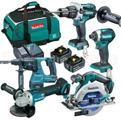 Makita 5pce Cordless 18v (5.0Ah) Lithium-Ion Brushless Combo Kit - DLX5027T