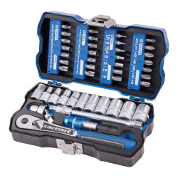 Kincrome LOK-ON 43pce 1/4 Metric Socket and Bit Set - K27000