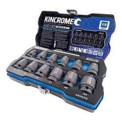 Kincrome LOK-ON 12pce Metric 1/2 Impact Socket Set - K27070