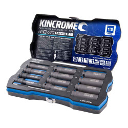 Kincrome 12pce 1/2 Metric LOK-ON Deep Impact Socket Set - K27072
