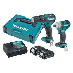 Makita 12V Max Cordless Brushless 2pce Combo Kit - CLX205SAJ