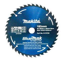 Makita BlueMak Circular Saw Blade 185mm x 40T # B-15154