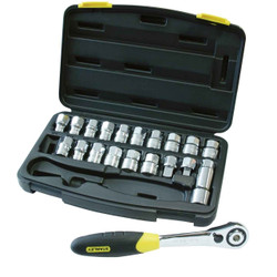 Stanley 21pce Thru Drive Socket Set # 89-811