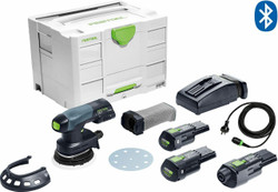 Festool 18V Cordless 125mm Random Orbital Sander Bluetooth Set ETSC125 BONUS - 575718
