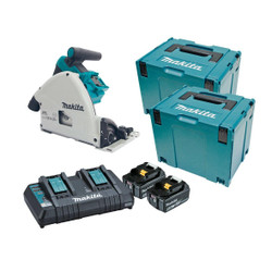 Makita 18Vx2 Cordless Brushless 165mm 6-1/2 Plunge Cut Saw Kit - DSP600PT2J
