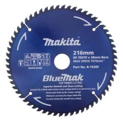 Makita 216mm x 60T Saw Blade 30mm Bore # B-15285