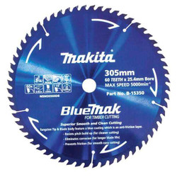 Makita 305mm x 60T BluMak Saw Blade 25.4mm Bore # B-15350