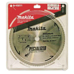 Makita 305mm x 25.4mm x 78T Metal Cut Blade for Bench Mounted Cold Saw # B-15811