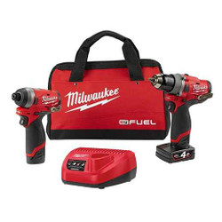 Milwaukee M12 Fuel 2pce Cordless 12v Combo Kit # M12FPP2A-421B