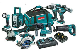 Makita 8pce Cordless 18V Lithium-Ion Brushless Combo Kit - DLX8016PT