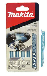 Makita 75mm Super Express Jigsaw Blade B-51 for Cutting Wood and PVC - Pack of 5 #B-06476