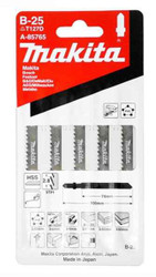 Makita HSS Jigsaw Blade B-25 9TPI Rough Cut Wood 3-60mm, Alum/Metal 3-6mm Pack Of 5 #A-85765