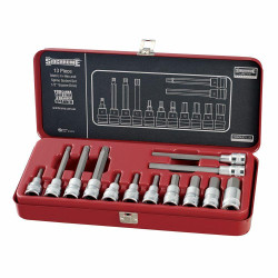 Sidchrome 13pce 1/2 Drive In-Hex Socket Set Metric - SCMT14275