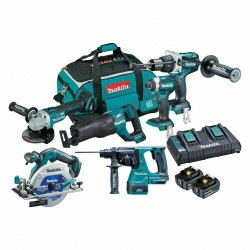 Makita 6pce 18V Cordless Lithium-Ion Brushless Combo Kit BONUS # DLX6071PT