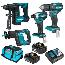Makita 18V Li-Ion LXT Cordless Brushless 4pce Combo Kit BONUS - DLX4110T