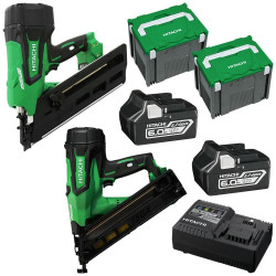 Hitachi 18V Li-Ion Cordless Brushless 2pce Nailer Combo Kit - 18VFRAMERCOMBO1