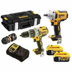 DeWalt 18V 5.0Ah XR Li-Ion Cordless 2pce Brushless Combo Kit # DCK2094P2-XE