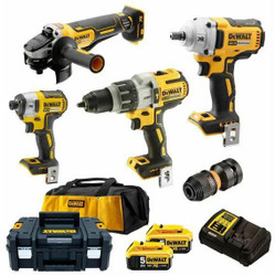 DeWalt 18V 5.0Ah XR Li-Ion Cordless Brushless 4pce Combo Kit # DCK496P2-XE
