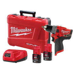 Milwaukee M12 Lithium-Ion FUEL Cordless 12v Hammer Drill Driver Kit - M12FPD-202C