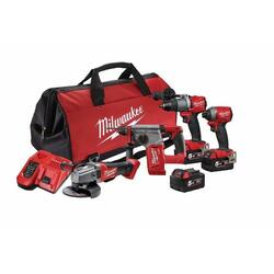 Milwaukee 18v5.0Ah FUEL Lithium Ion Cordless 4pce Power Pack # M18FPP4A2-503B