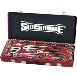 Sidchrome 64pce Metric and AF Socket Set - SCMT19120