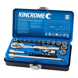 Kincrome 26pce Metric Socket Set 1/4 Drive - K28000
