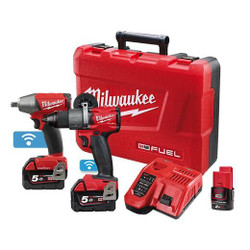 Milwaukee M18 FUEL ONE-KEY 2pce Cordless 18v Combo Pack BONUS - M18ONEPP2B2-502C