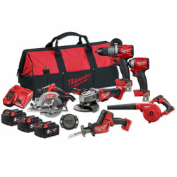 Milwaukee M18 FUEL Lithium Ion 18v Cordless 6pce Combo Brushless Kit # M18FPP6A2-503B