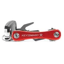 KeySmart Rugged Aluminium Compact Key Holder RED - AKS607RED